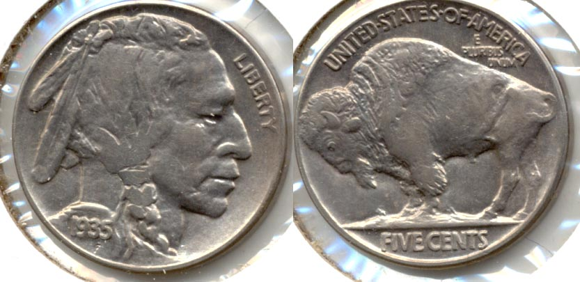 1935 Buffalo Nickel AU-53
