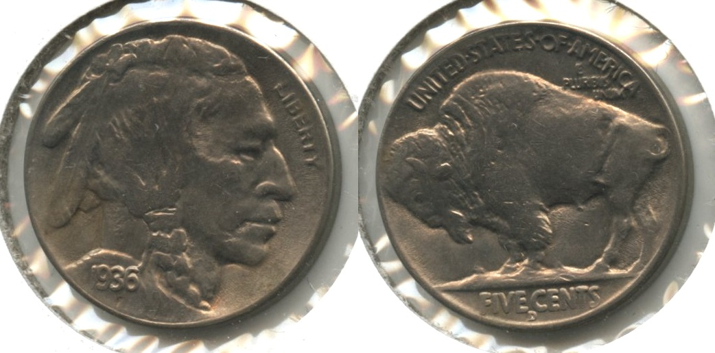 1936-D Buffalo Nickel MS-63