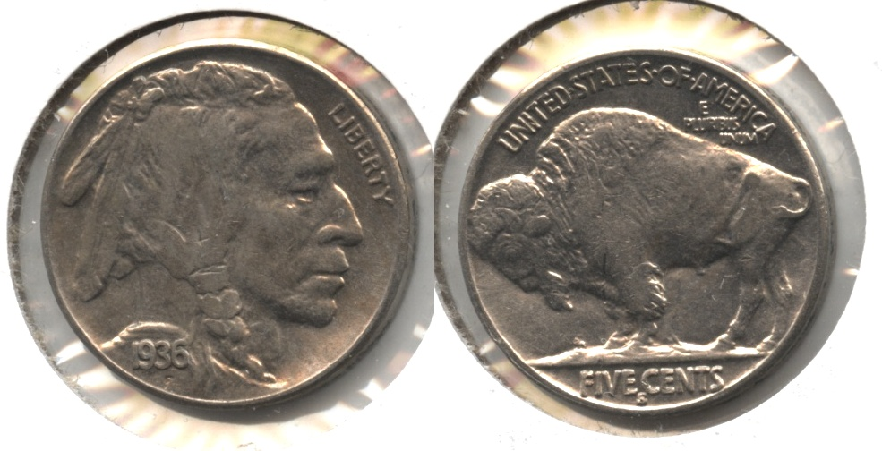 1936-S Buffalo Nickel AU-55 #a