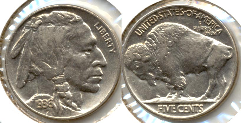 1936 Buffalo Nickel AU-53