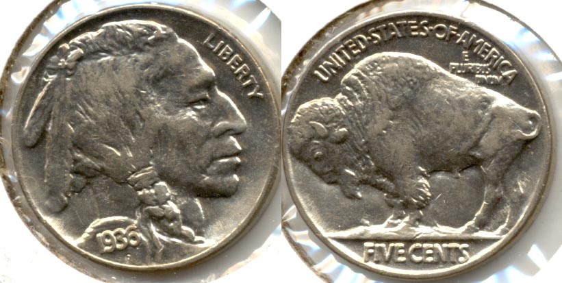 1936 Buffalo Nickel AU-55 a