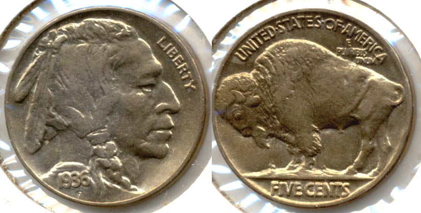 1936 Buffalo Nickel AU-55 e