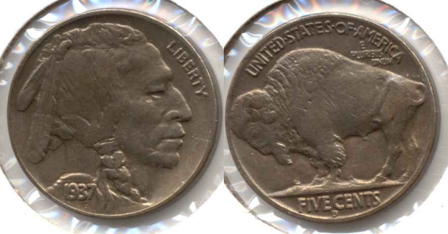 1937-D Buffalo Nickel AU-50 j