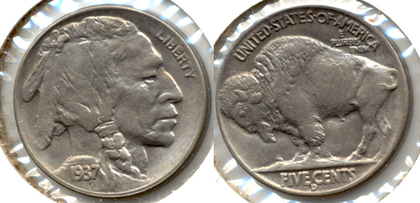 1937-D Buffalo Nickel MS-60