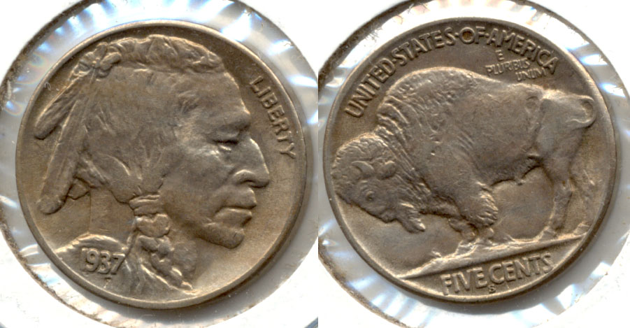 1937-S Buffalo Nickel AU-50