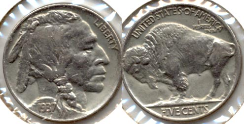 1937 Buffalo Nickel AU-50 a