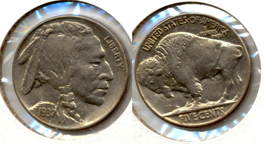 1937 Buffalo Nickel AU-50 ae