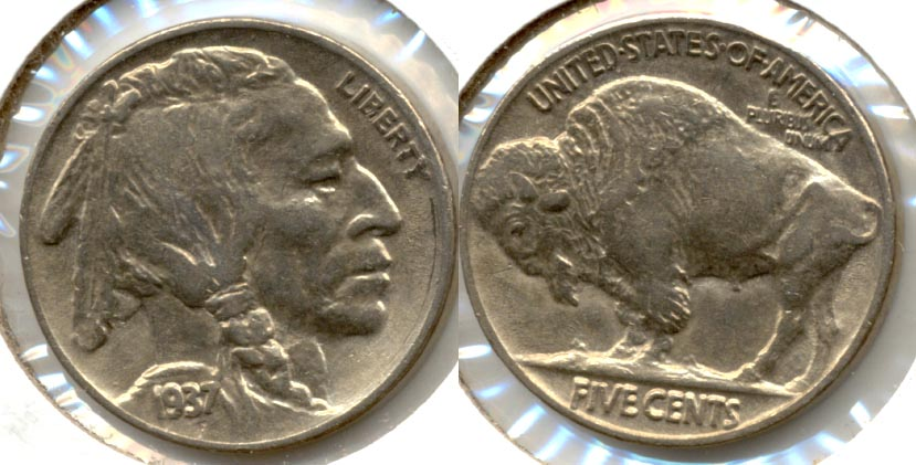 1937 Buffalo Nickel AU-50 l