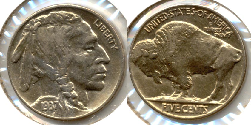 1937 Buffalo Nickel AU-50 u