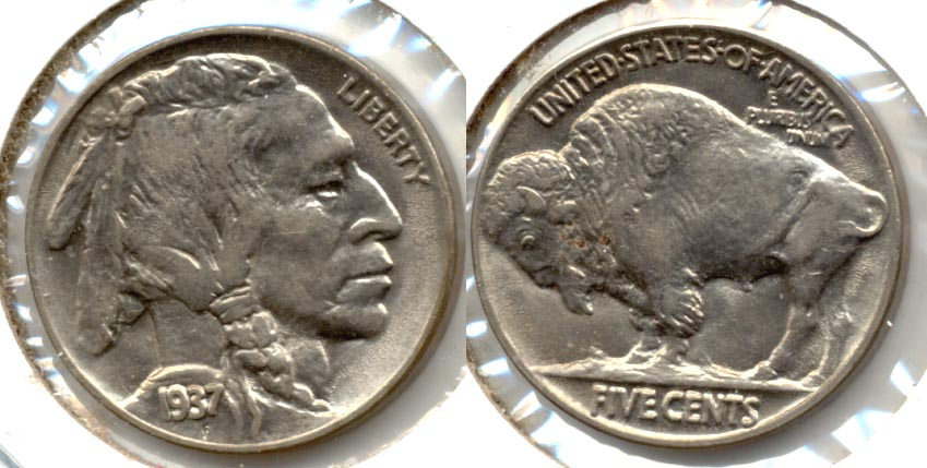 1937 Buffalo Nickel AU-53 d