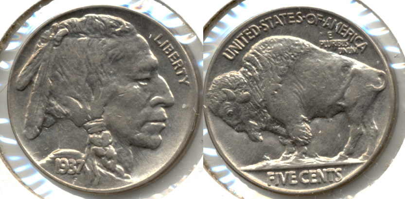 1937 Buffalo Nickel AU-55