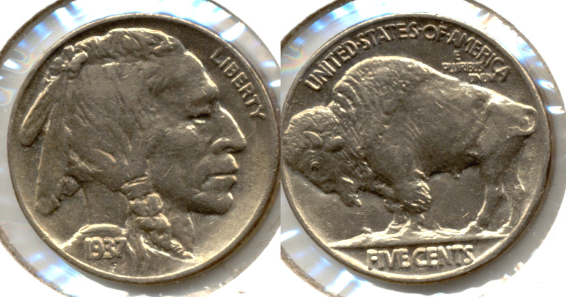 1937 Buffalo Nickel AU-55 k