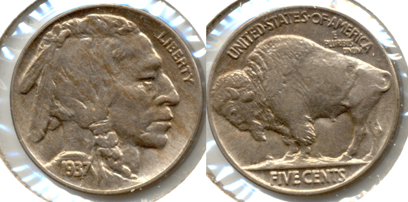 1937 Buffalo Nickel AU-55 n