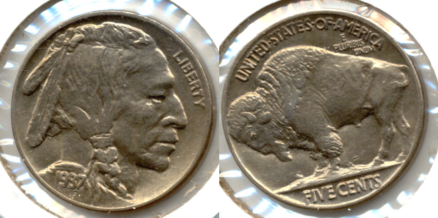 1937 Buffalo Nickel AU-55 s