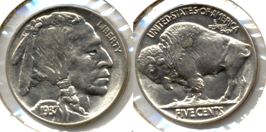 1937 Buffalo Nickel AU-58 h