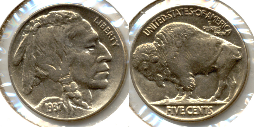 1937 Buffalo Nickel AU-58 l