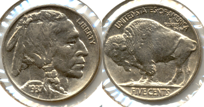 1937 Buffalo Nickel AU-58 n
