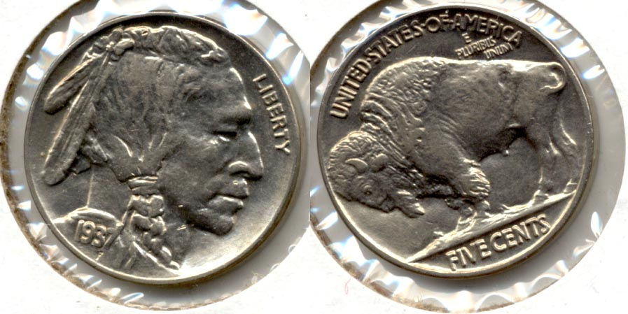 1937 Buffalo Nickel AU-58 s
