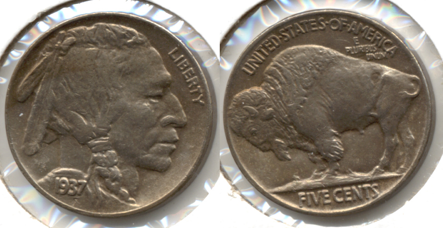 1937 Buffalo Nickel AU-58 x
