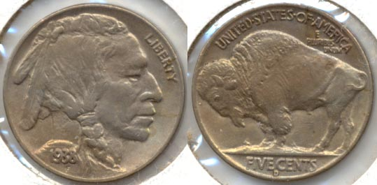1938-D Buffalo Nickel AU-50
