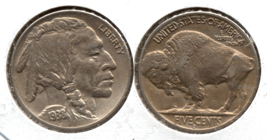 1938-D Buffalo Nickel AU-50 i