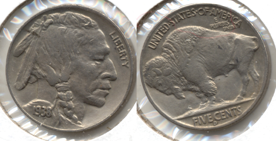 1938-D Buffalo Nickel AU-50 l