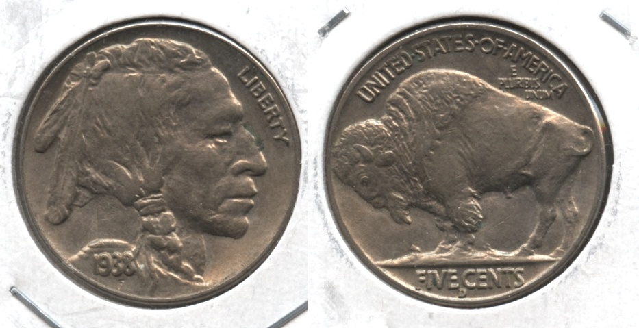 1938-D Buffalo Nickel AU-50 #o