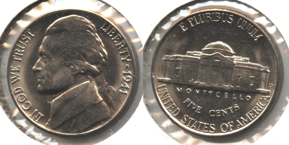 1941-D Jefferson Nickel Mint State