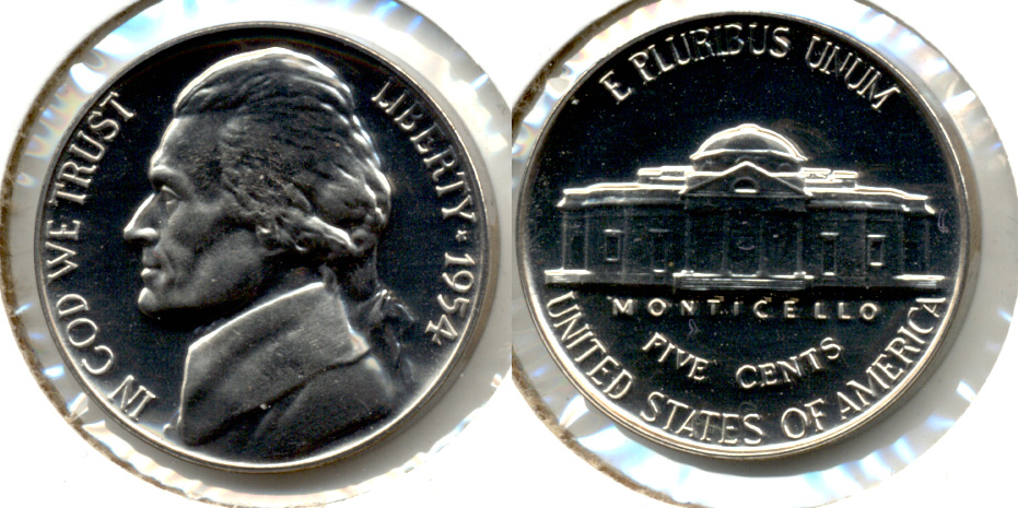 1954 Jefferson Nickel Proof-65