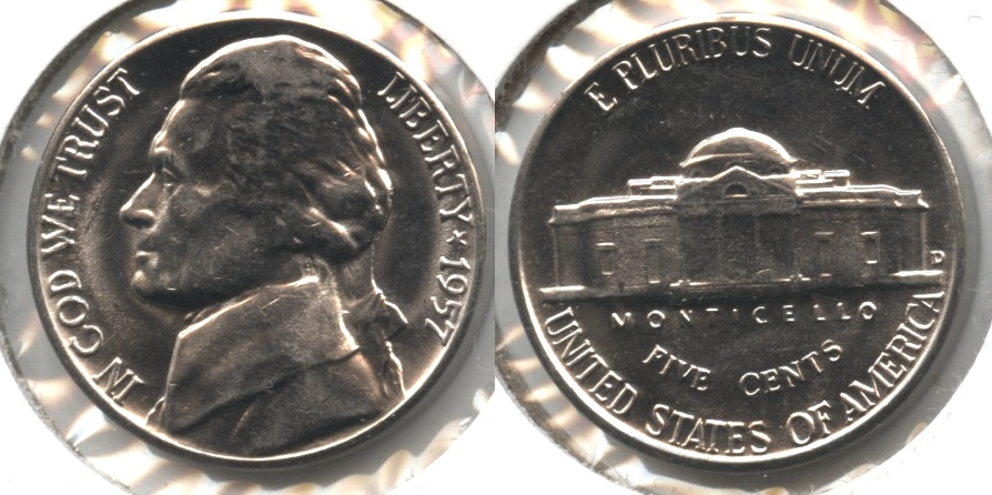 1957-D Jefferson Nickel Mint State
