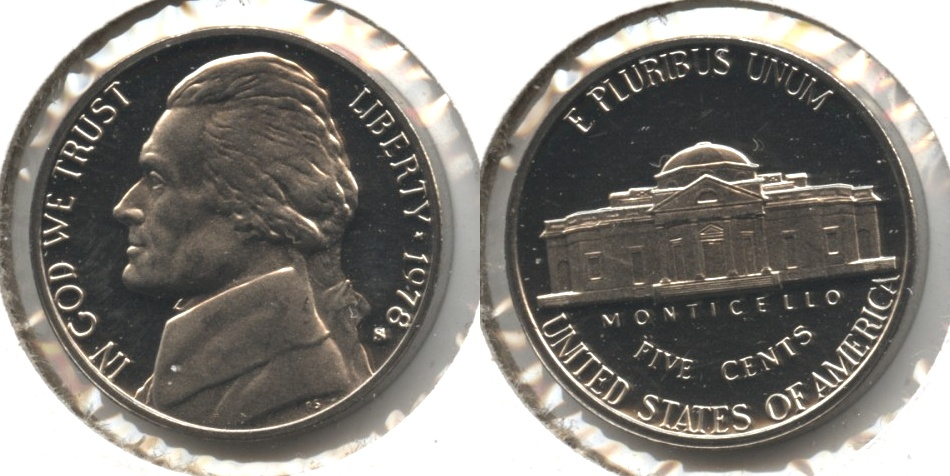 1978-S Jefferson Nickel Proof