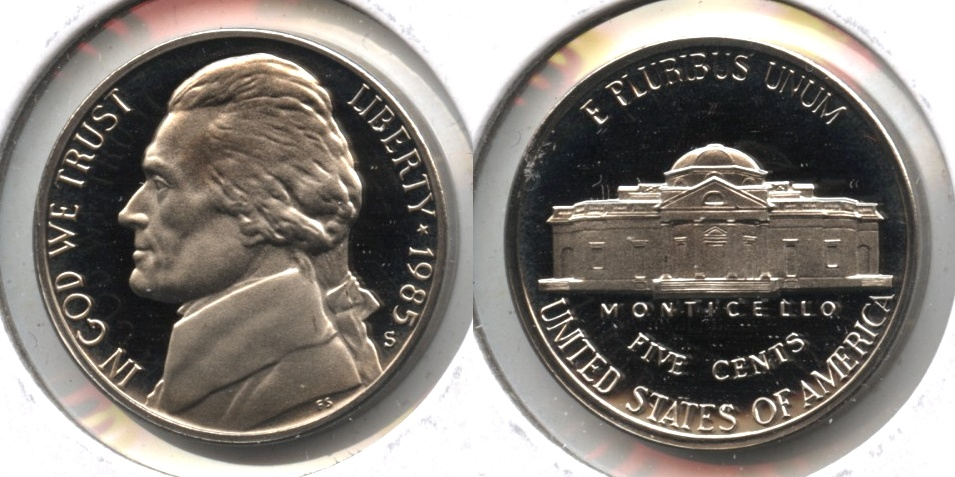 1985-S Jefferson Nickel Proof