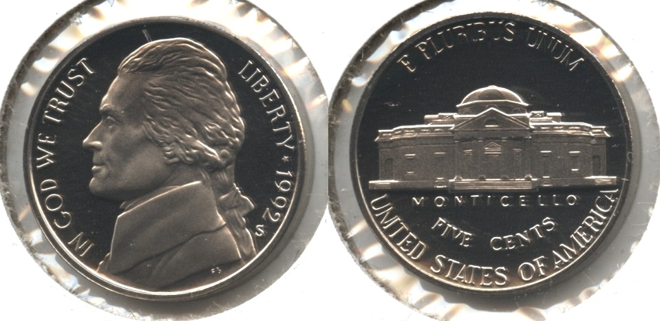 1992-S Jefferson Nickel Proof