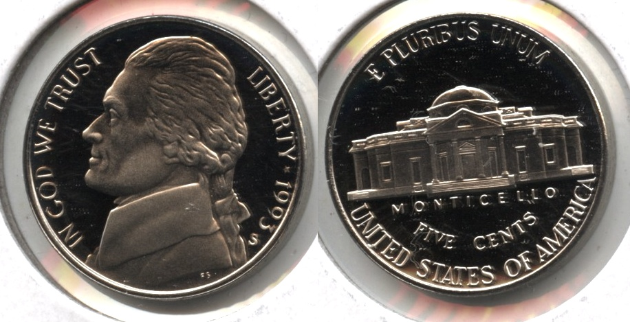 1993-S Jefferson Nickel Proof