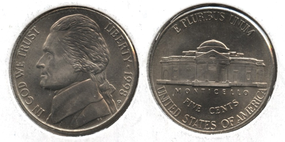 1998-P Jefferson Nickel Mint State
