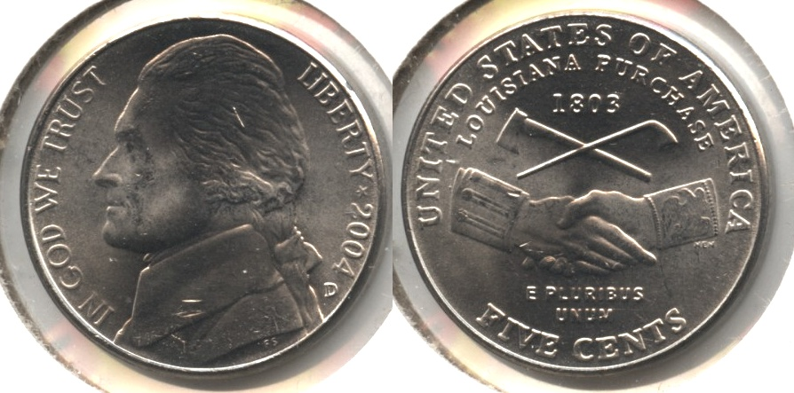 2004-D Peace Medal Jefferson Nickel Mint State