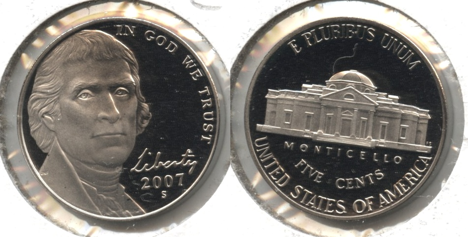 2007-S Jefferson Nickel Proof