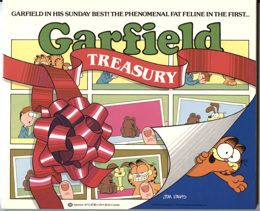 The First Garfield Treasury by Jim Davis Published 1982
