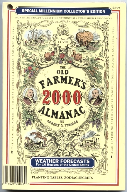 The Old Farmer's Almanac 2000 by Robert B Thomas Published 1999