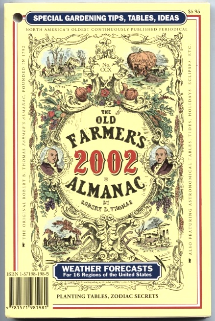 The Old Farmer's Almanac 2002 by Robert B Thomas Published 2001