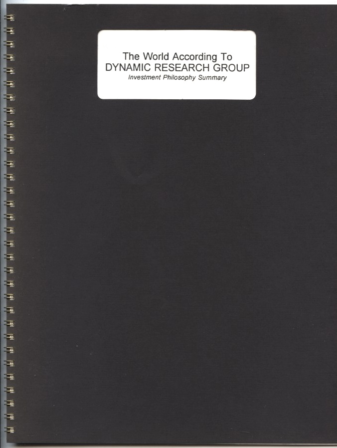 The World According To Dynamic Research Group by David Gottstein Published 1993