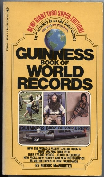 Guinness Book Of World Records 1980 Published 1979