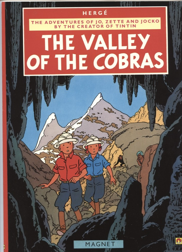 Adventures of Jo Zette and Jocko The Valley Of The Cobras by Herge Published 1986