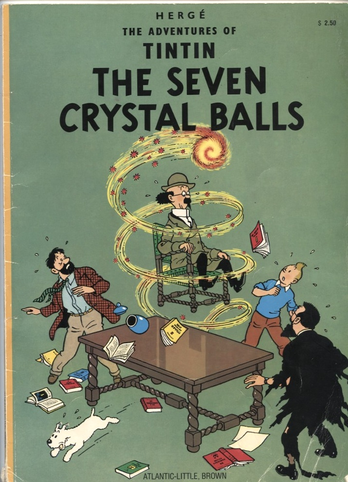 Adventures of Tintin The Seven Crystal Balls by Herge Published 1975