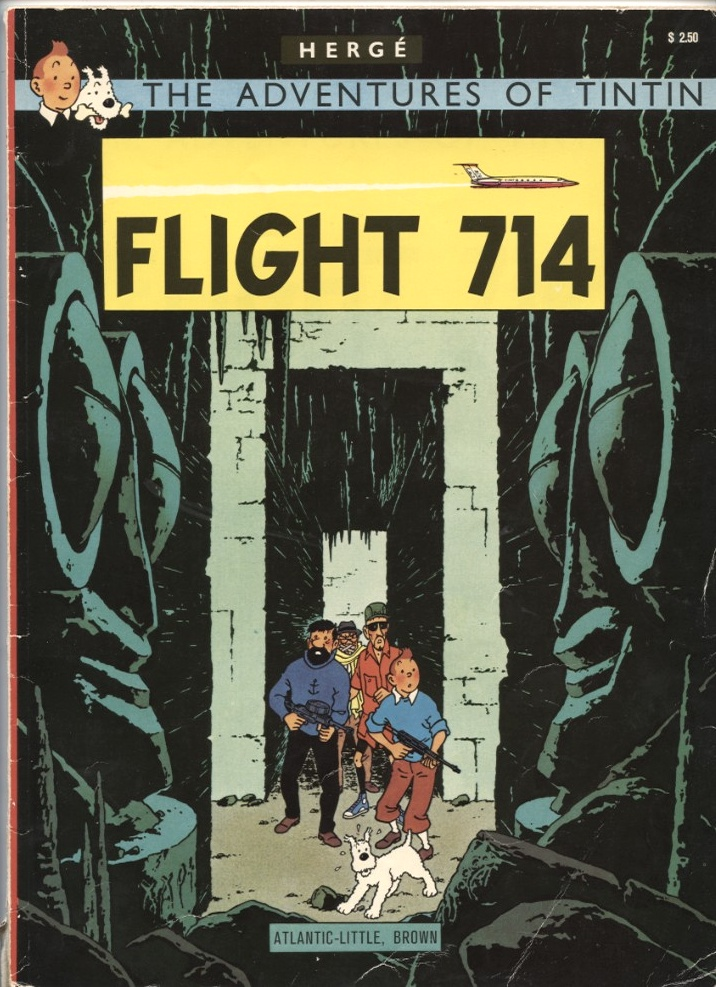 Adventures of Tintin Flight 714 by Herge Published 1975