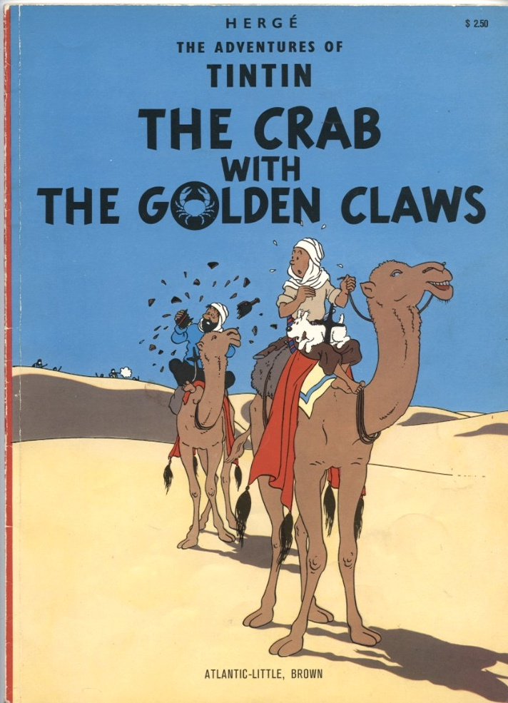 Adventures of Tintin The Crab With The Golden Claws by Herge Published 1974