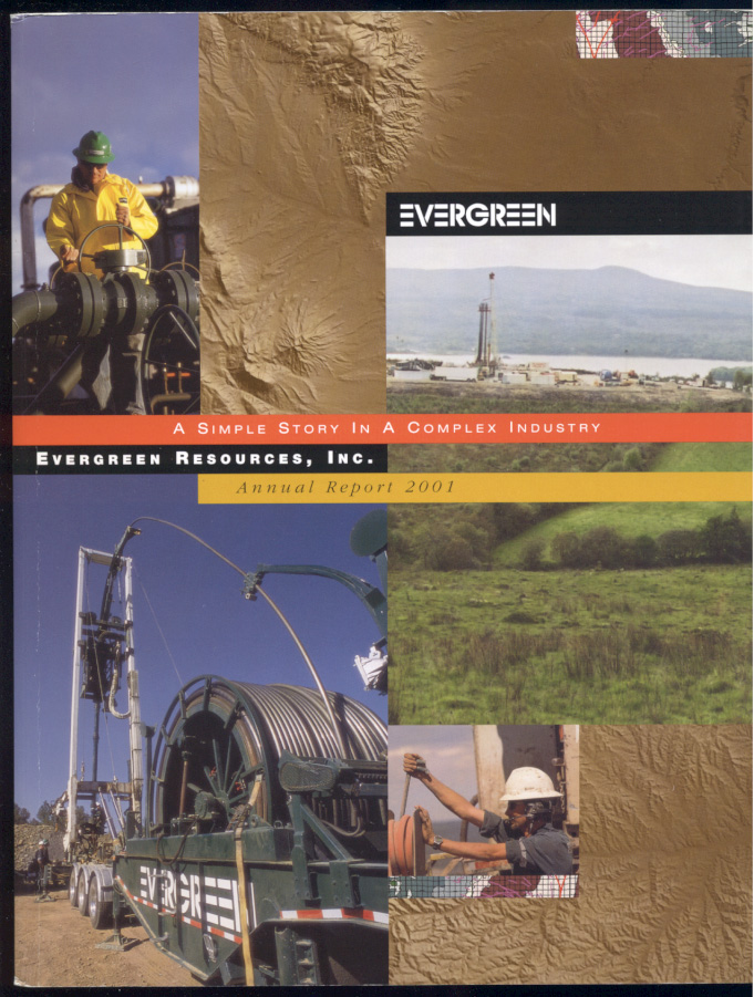 Evergreen Resources Inc 2001 Annual Report