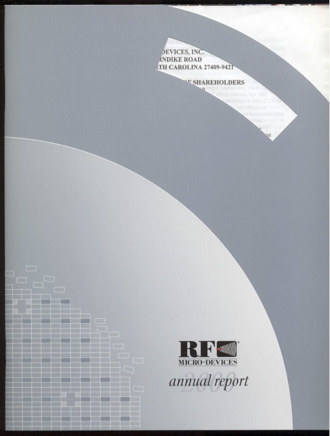 RF Micro Devices 2000 Annual Report
