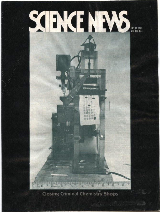 Science News July 19 1980 Closing Criminal Chemistry Shops