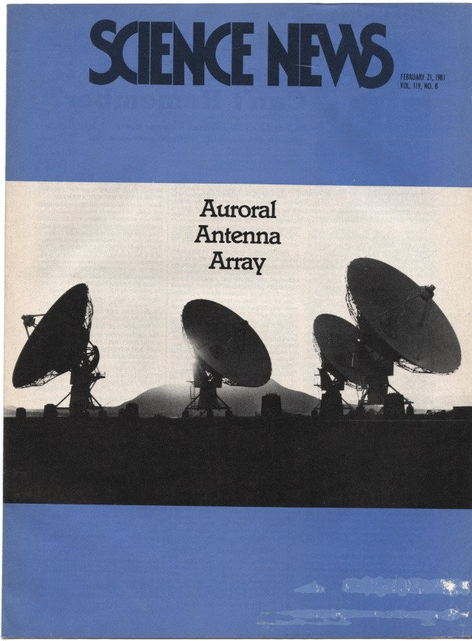 Science News February 21 1981 The Very Large Array of radio antennas in New Mexico